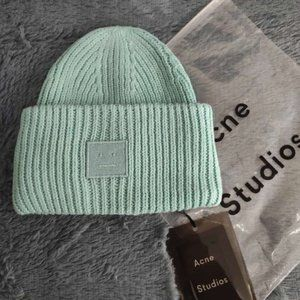 ☀Acne Studios Pansy Beanie Pea Mint
